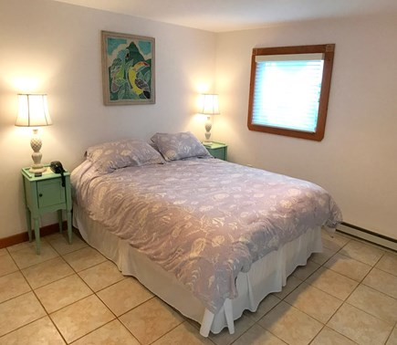 Oak Bluffs Martha's Vineyard vacation rental - Master with a queen bed, A/C, TV and sliders to the patio