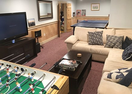 Katama - Edgartown, Edgartown Martha's Vineyard vacation rental - Basement Rec Room with foosball, ping pong, XBox, sound system
