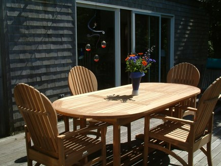 Chilmark Martha's Vineyard vacation rental - Dine on the deck & enjoy the. hummingbirds