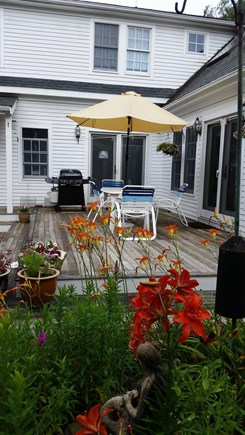 West Tisbury Village Martha's Vineyard vacation rental - Large sundeck for cookouts and relaxation.