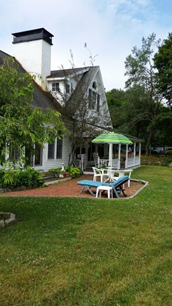 West Tisbury Village Martha's Vineyard vacation rental - View of side patio.