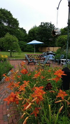 West Tisbury Village Martha's Vineyard vacation rental - Back patio has a campfire area for star gazing.