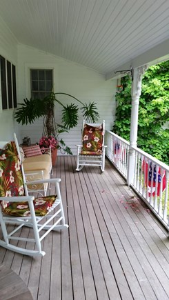 West Tisbury Village Martha's Vineyard vacation rental - Covered porch has rockers and comfortable stuffed furniture.
