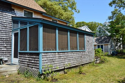 Oak Bluffs harbor In-town Martha's Vineyard vacation rental - Screened in porch