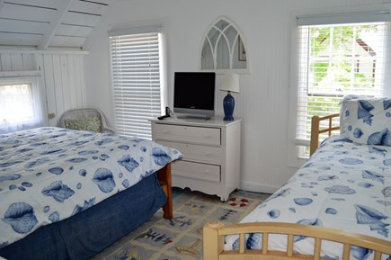 Oak Bluffs harbor In-town Martha's Vineyard vacation rental - 2nd floor room with queen and twin bed