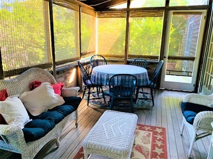 Oak Bluffs harbor In-town Martha's Vineyard vacation rental - Screened porch