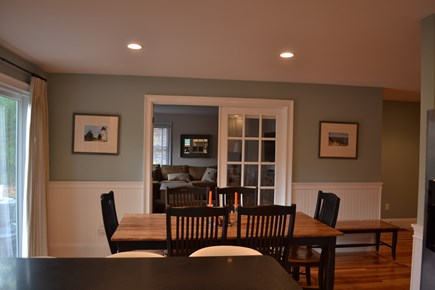 Oak Bluffs Martha's Vineyard vacation rental - Kitchen is open to the dining and through to den.
