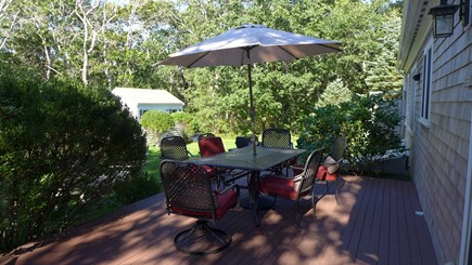 Edgartown Martha's Vineyard vacation rental - Back Deck