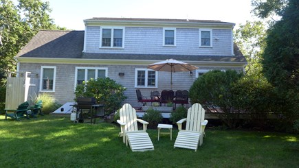 Edgartown Martha's Vineyard vacation rental - Back Yard for barbecues/family games