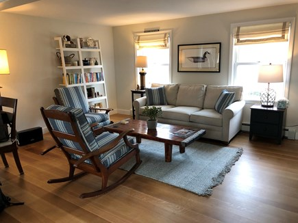 West Tisbury Martha's Vineyard vacation rental - Living room with new 4k TV with Xfinity (w/ high speed internet)
