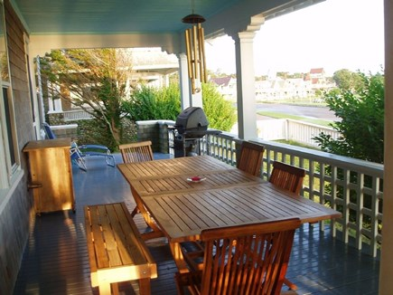 Oak Bluffs Martha's Vineyard vacation rental - Spacious porch wraps around 3/4 of the house. Gas grill.