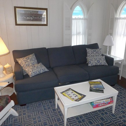 Oak Bluffs Martha's Vineyard vacation rental - Comfortable living room off porch