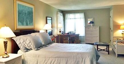 Edgartown-Chappaquiddick Martha's Vineyard vacation rental - Master bedroom w/full bath & 32' room with sitting area w/TV/VCR