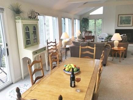 Edgartown-Chappaquiddick Martha's Vineyard vacation rental - Dining room table. Open format 2nd floor. Watch-water while u eat