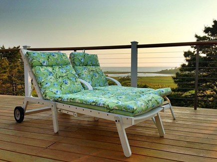 Edgartown-Chappaquiddick Martha's Vineyard vacation rental - Relax on the deck loungers and enjoy the scenic water views.
