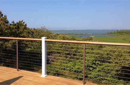 Edgartown-Chappaquiddick Martha's Vineyard vacation rental - Ocean view from the wonderful, cable system deck.