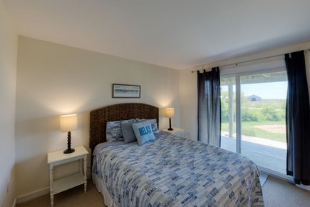 Katama - Edgartown, Katama Martha's Vineyard vacation rental - Queen size bedroom w/ slider to front mahogany deck