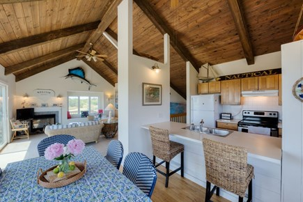 Katama - Edgartown, Katama Martha's Vineyard vacation rental - Dining room with kitchen and living room