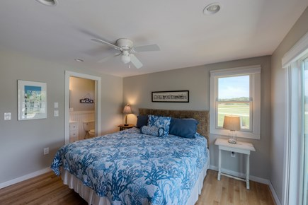 Katama - Edgartown, Katama Martha's Vineyard vacation rental - Master bedroom w/ king size bed, full bath & slider to pool deck