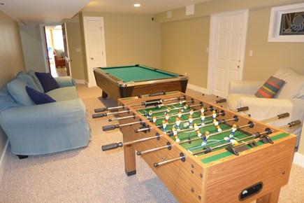 West Tisbury Martha's Vineyard vacation rental - Pool and Foosball Table in Lower level