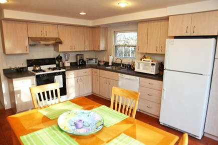 West Tisbury Martha's Vineyard vacation rental - The up to date and fully equipped kitchen w/sliders to the deck