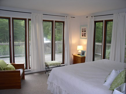 West Tisbury Martha's Vineyard vacation rental - The 1st FL king BR w/ its 2 walls of floor to ceiling windows