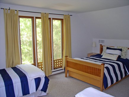 West Tisbury Martha's Vineyard vacation rental - Oversized bedroom with a double and 2 twin beds