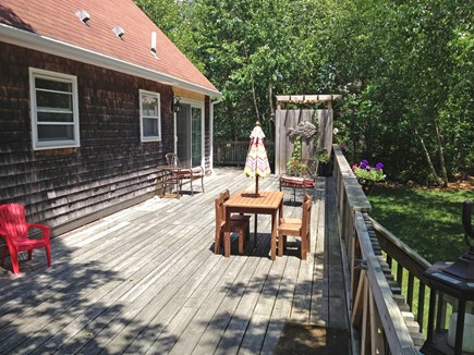 West Tisbury Martha's Vineyard vacation rental - The rear deck. The entire deck surrounds the house on all 4 sides