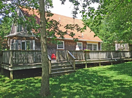 West Tisbury Martha's Vineyard vacation rental - Rear of the house w/a section of the entirely private back yard