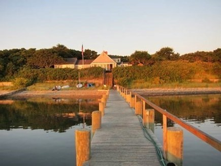 Katama - Edgartown, Edgartown Martha's Vineyard vacation rental - View of  the House From the Dock