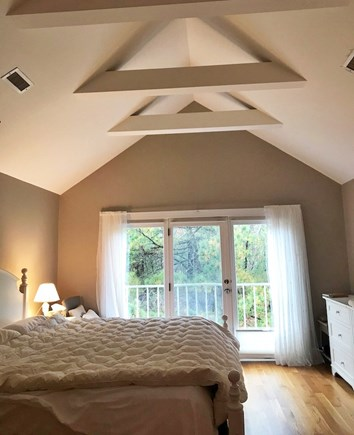 Vineyard Haven Martha's Vineyard vacation rental - Master Bedroom with Juliet Balcony