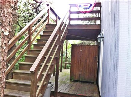 Edgartown Martha's Vineyard vacation rental - Upper and lower deck with outside shower and hammock for reading