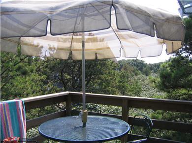 Edgartown Martha's Vineyard vacation rental - Deck overlooking a wooded lot