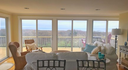 Aquinnah Martha's Vineyard vacation rental - Water views from living room