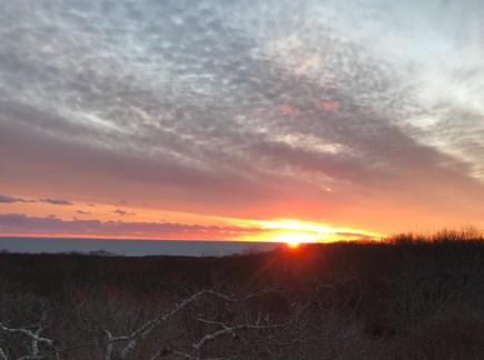 Aquinnah Martha's Vineyard vacation rental - 160 degree view of the Atlantic - Winter Sunset