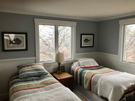 Aquinnah Martha's Vineyard vacation rental - Upstairs bedroom with two twin beds