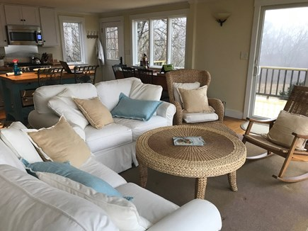 Aquinnah Martha's Vineyard vacation rental - Comfortable living space open to kitchen