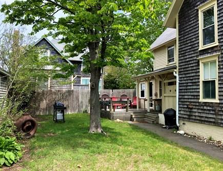 Oak Bluffs Martha's Vineyard vacation rental - Side yard with grill, deck area