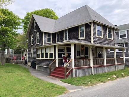 Oak Bluffs Martha's Vineyard vacation rental - Front of house, showing side yard to deck