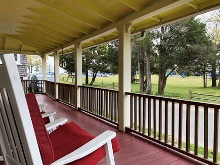 Oak Bluffs Martha's Vineyard vacation rental - Front porch facing Waban park