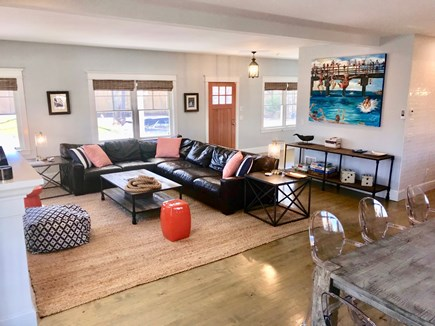 Downtown Vineyard Haven Martha's Vineyard vacation rental - Great room with a flatscreen TV is perfect for game/movie nights!