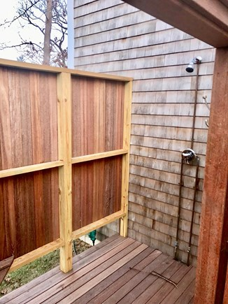Downtown Vineyard Haven Martha's Vineyard vacation rental - Huge Outdoor Shower with Dressing Area