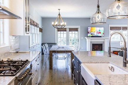 Downtown Vineyard Haven Martha's Vineyard vacation rental - Gourmet Kitchen with commercial appliances