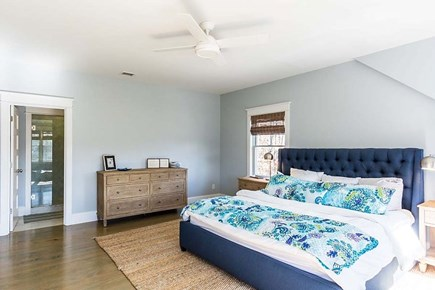 Downtown Vineyard Haven Martha's Vineyard vacation rental - Bright and Airy Master Bedroom (King) with Ensuite Master Bath