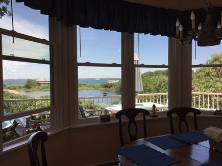 Oak Bluffs, East Chop Martha's Vineyard vacation rental - Indoor Dining area overlooks deck, Crystal Lake & Vineyard Sound