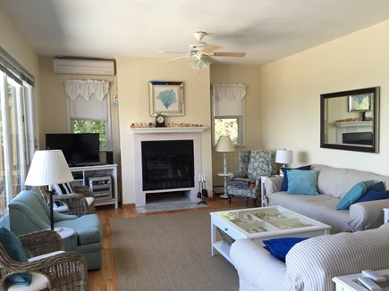 Oak Bluffs, East Chop Martha's Vineyard vacation rental - Living Room: Wall of windows with ocean/lake views
