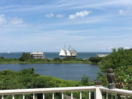Oak Bluffs, East Chop Martha's Vineyard vacation rental - View from deck overlooking Crystal Lake & Vineyard Sound