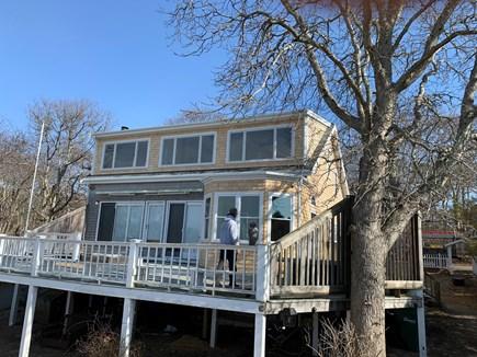 Oak Bluffs, East Chop Martha's Vineyard vacation rental - Back of House:  Deck, LR & BRs w/ Views
