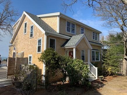 Oak Bluffs, East Chop Martha's Vineyard vacation rental - Front; Wraparound Side Deck w/ Kitchen Entry