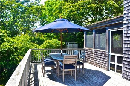 Aquinnah, Martha's Vineyard Martha's Vineyard vacation rental - Outdoor dining on the sun deck